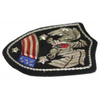 China Flags Banners Embroidered Applique Patches , Bullion Wire Badges For Shoulder on sale