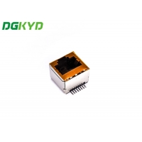 Quality Single Port RJ45 Connector 180 Degree Without Filter Outlet Without Led SMT for sale