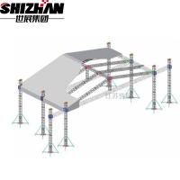 Buy cheap Concert Stage Roof Aluminum Truss Display Curved from wholesalers