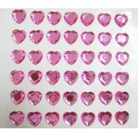 Quality loose rhinestone sticker single pink heart sticker for mobile phone decor for sale
