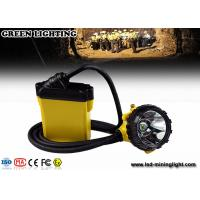 China Explosion Proof Mining Hard Hat Led Lights 25000 Lux Strong Brightness Corded Style on sale