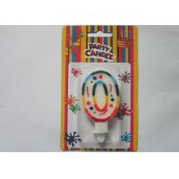 Best Rainbow Novelty Number Birthday Candles Decorative Number Zero Candle for Party wholesale