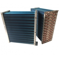 Quality CE 1/4HP Air Fan Louvered Fin Heat Exchanger Hydrophilic 8 Rows for sale