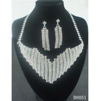 Best OEM European Standard Silver Jewelry Crystal Necklace and Earring Set for Party wholesale
