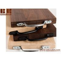Quality Eco-Friendly Wooden Personalised Large Walnut Wedding Gift Board Polished Chrome / Black Cast Iron Handles for sale