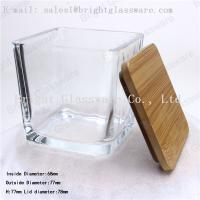 Best Square wooden/ bamboo lid of glass container wholesale