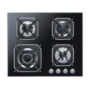 Quality Four Burners Gas Cooker Hob High Safety For Home Kitchen SS Surface Material for sale