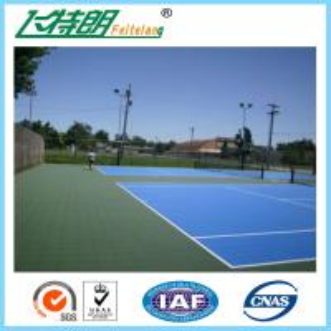 Blue Silicon Polyurethane Sports Flooring Sandwich System Outdoor Basketball Court Surface