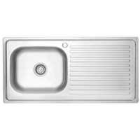 Quality 100*50CM plating or satin Long Kitchen sink Stainless steel sanitaryware price for sale