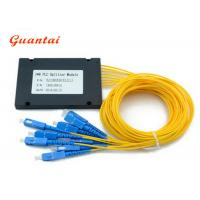 Quality 1X8 ABS Coupler Fiber Optic Cable Splitter Customized Fiber Length Stable Working for sale