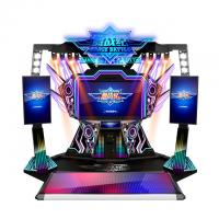 Quality Douple Players PK Coin Operated Arcade Dance Machine For Playground for sale