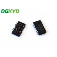 Quality SMD 10/100 Cat6 Gigabyte Ethernet Isolated Transformers Modules 16 Pins for sale