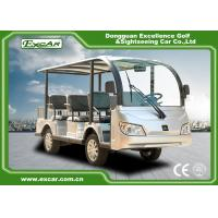 Quality Durable 72V 7.5KM Electric Sightseeing Car With Storage Basket Climbing Capacity 25% for sale