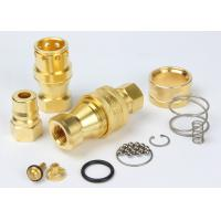 Brass Hydraulic Quick Couplers Under Pressure NPTF Female Thread For Water
