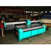 Buy cheap 2500*1300mm UV Flatbed Printer with Double DX7 heads for rigid flat material like glass,ceramics,PVC board,wood,metal from wholesalers