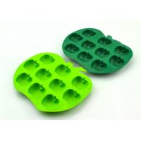 Quality Custom Environment Non - Stick 10 Cavities Pretty Silicone Ice Tray Apple Shaped for sale