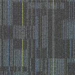 Quality Unique Texture Design PP Carpet Tile Striped Carpet Tiles For Library for sale