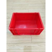 Quality Virgin Plastic Red Euro Stacking Containers 400*300 mm Conveyor Sorting System Lids Option for sale