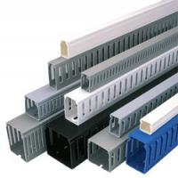 Quality Anti - uv custom portable Solid Wiring Ducts, PVC Wall Wiring Ducts, plastic trunking for cables for sale