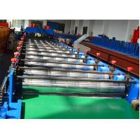 Quality 18 stations Glazed Tile Roll Forming Machine / Roof Panel Roll Forming Machine 5.5KW for sale