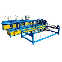 Quality Hot selling automatic diamond wire mesh chain link fence making machine for sale