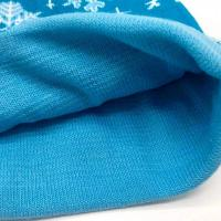 Buy Breathable Knitted LED Lamp Cap / White Snowflake Christmas Hat at wholesale prices