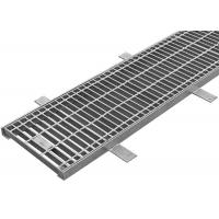 Quality Long Channel Drain Grate Cover Drainage Steel Grating With Hinged Inlet for sale