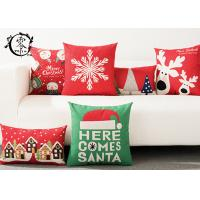 China Merry Christmas Silk Cotton Pillow Decorative Throw Cushion Case Home Decor Cotton Linen for Sofa on sale