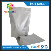 Quality Free sample aluminum foil stand up ziplock bag for food storage packaging for sale