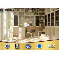 Quality Custom made Office Furniture Bookcases / White Wood Corner Bookcase for sale