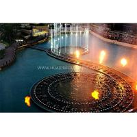 Quality Beautiful Decorative Flaming Water Fountain IP68 273×273×800 Mm Custom Design for sale