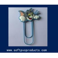 Quality Creative Funny Tom Cat Cartoon PVC Paper Clip / Customized Paper Clips Wholesale for sale