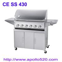 Quality 6Burner BBQ on Cart with side burner for sale