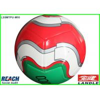 China White Red Green TPU Official Soccer Balls / Soccer Training Balls on sale