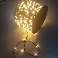 China 100m Outdoor Tree Decorative Dark green Wire Christmas 12V LED Fairy Clip Lights led christmas on sale