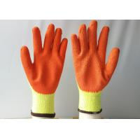 Quality 10 Gauge Latex Coated Gloves Yellow Cotton / Polyester Knitted For Construction for sale