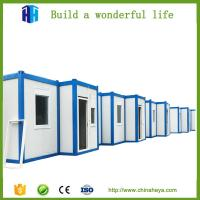 China prefabricated sandwich panel  storage container house folding in south africa on sale