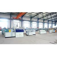 China 20m/min corrugated pipe extrusion line PP PE PVC single wall corrugated pipe extrusion line on sale
