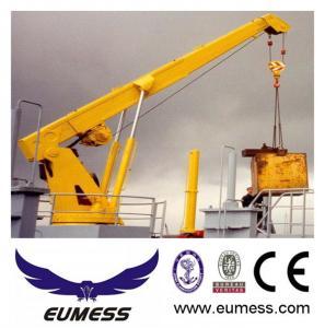 Quality Stiff boom marine ship deck crane for sale