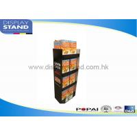 Best Trade Show Cardboard Floor Display Stand By Offset Printing / Flexo Printing wholesale