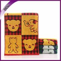 Quality bear jacquard kids towel 100% cotton terry gauze towel for baby for sale