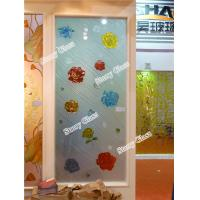 China Engraved Painted Glass Partition on sale