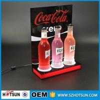 Best Acrylic bottle display / customize LED acrylic display wholesale