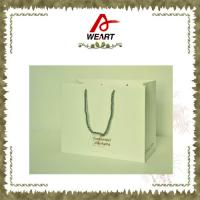 Best Recycled Luxury White Card Paper Bags For Gift , Printed Hot Stamping Logo wholesale