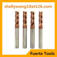 Best HRC55 solid carbide cutting tool end mill type for steel cutting wholesale