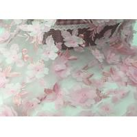 """Buy cheap Tulle Tape Embroidery Mesh Lace Fabric 3d Flower 49-50"""" Width For Wedding from wholesalers"""