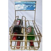 Best Liquor Shop Gin Commercial Countertop Wire Wine Rack Display Finished Golden Color wholesale