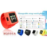 China HD Camera, Mp3 Player Wrist Watch Cell Phones, Hand Phone Watches with GSM MQ666 on sale