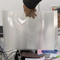 Quality Plastic Lenticular 20 LPI flip lenticular effect thickness 3 mm designed for flip effect on injekt printer USA for sale
