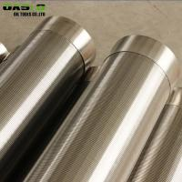 Quality Wire Wrapped Stainless Steel Well Screen Pipe For Well Drilling 85 % Filter Rating for sale